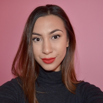 After the haircut- sleek straight a-line lob hairstyle