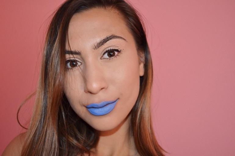 colourpop matte lux lipstick trill seeker periwinkle blue true