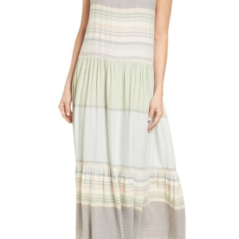 Caslon Multi Stripe Woven Maxi Dress