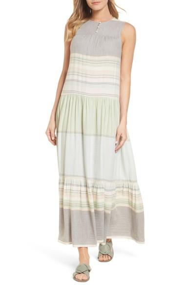 Caslon Multi Stripe Woven Maxi Dress