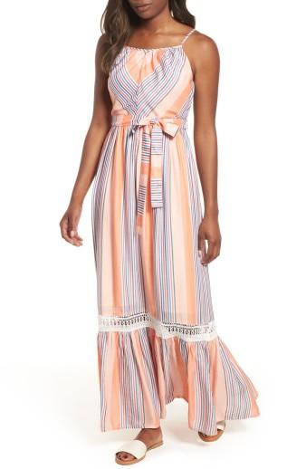 Everleigh Tie Waist Cotton Maxi Dress