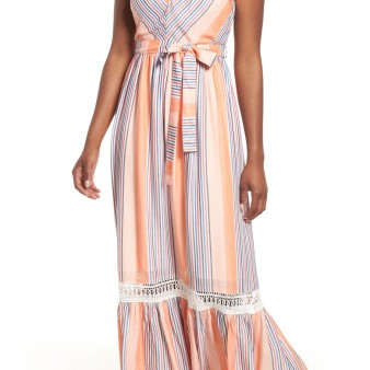 Everleigh Tie Waist Cotton Maxi Dress