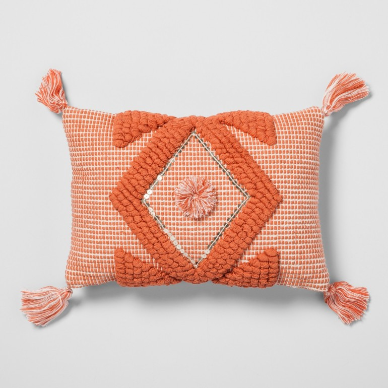 canyon sunrise coral tassel pillow.jpeg