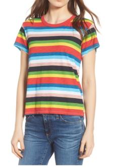 Pam & Gela Rainbow Stripe Tee